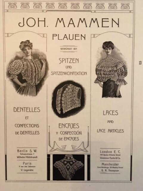 Das Plauener Spitzenmuseum historische Werbeanzeige