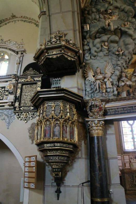 Die Bergkirche in Schleiz - das Stundenglas