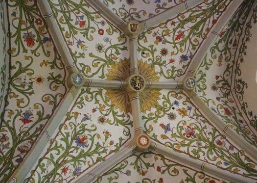Die Himmelswiese - eine prunkvolle barocke Deckenbemalung in der Bergkirche Schleiz
