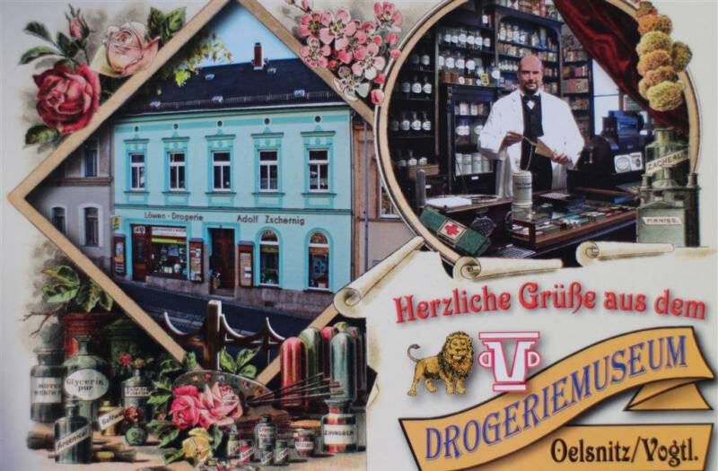 Drogeriemuseum in der Löwendrogerie in Oelsnitz