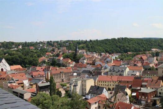 Toller Ausblick von der Osterbrug auf die Stadt Weida