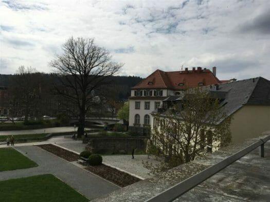 Blick von der Terrasse des Schloss-Cafés in Greiz
