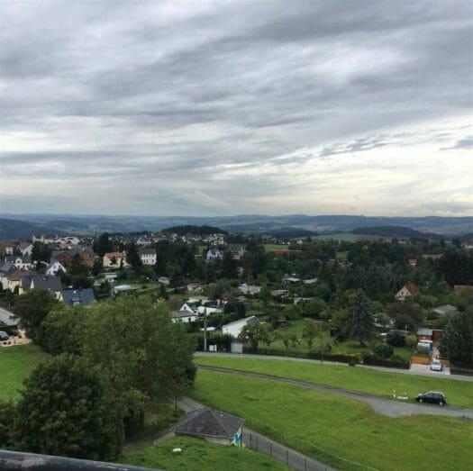 Blick über Plauen und das Vogtland