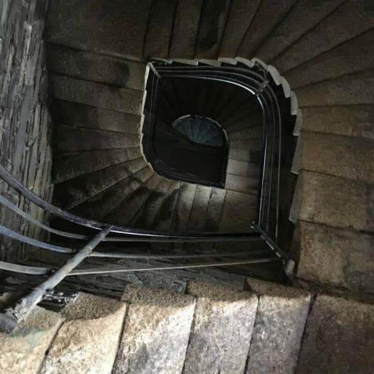 Blick in das Treppenhaus des Bismarckturms auf dem Kemmler (Vogtland - Plauen)