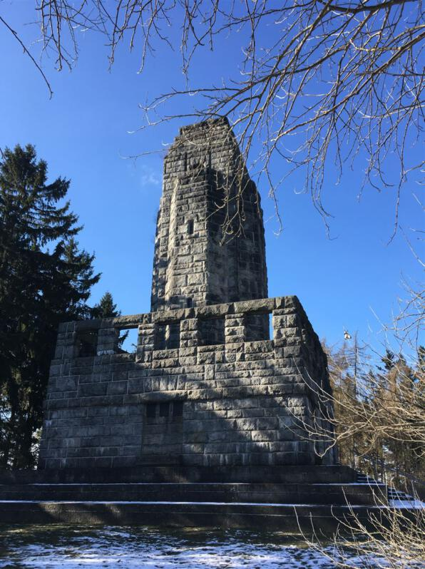 Ausflugsziel im bayerischen Vogtland - der Bismarckturm in Hof - Bismarcksäule - Aussichtspunkt