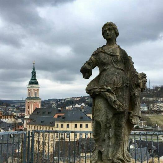 Ausflugstipp im Vogtland / Thüringen – Stadtrundgang in Greiz - Blick vom Oberen Schloss