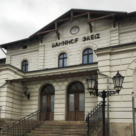 Der Bahnhof Greiz
