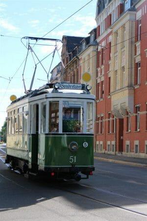 Plauener Museumsnacht 2018 - historische Straßenbahn