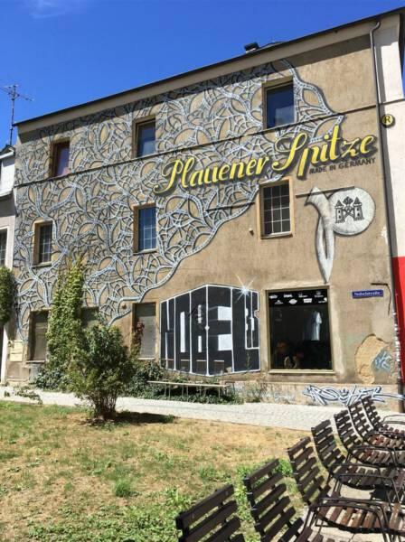 Plauener Spitze als Street Art