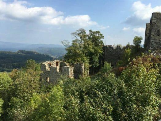 Ausflugstipp: Burgruine Engelshaus Andelska Hora Kulturweg der Vögte