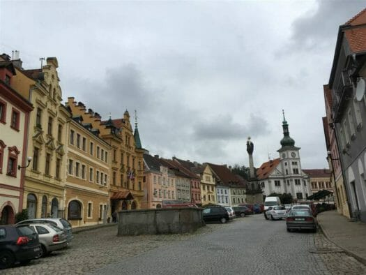 Blick auf den Marktplatz von Loket