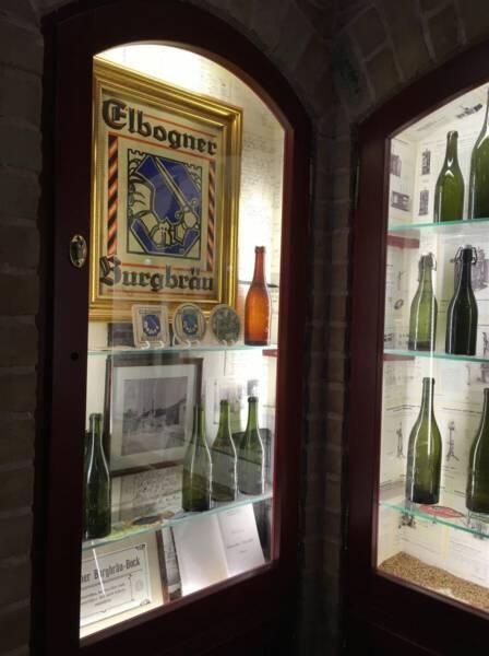 Interessante Ausstellung in der Brauerei in Loket mit Ausschank