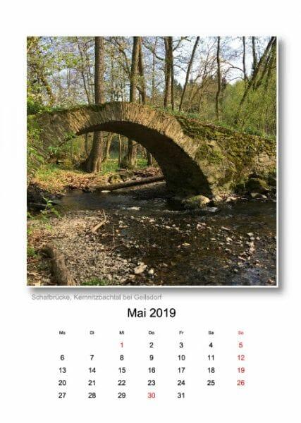 Vogtland Kalender 2019 - Monat Mai