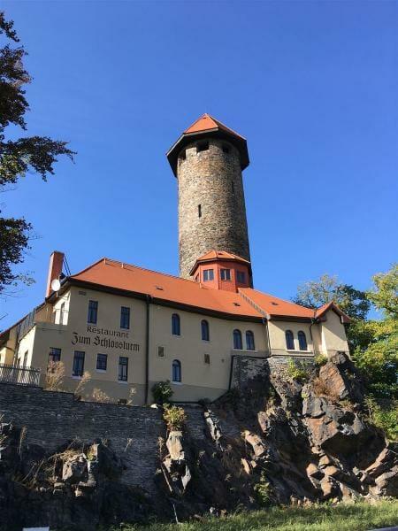 Der Schlossturm in Auerbach / Vogtland / Sachsen