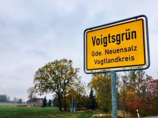 Voigtsgrün - ein typischer Ortsname im Vogtland