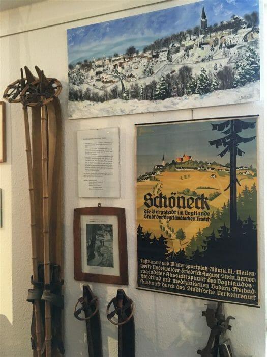 Ausflug im Winter nach Schöneck - Museum
