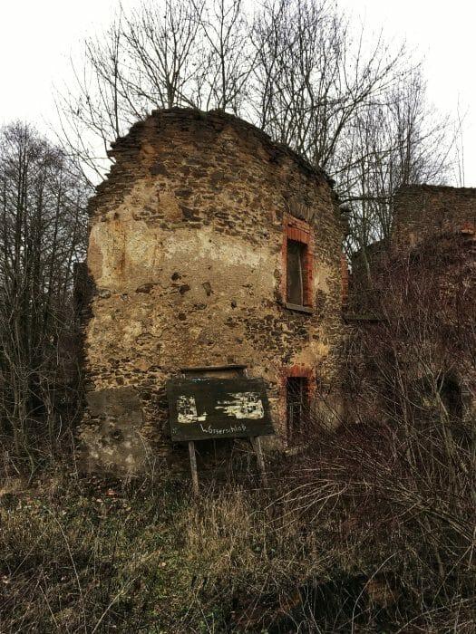 Ruine der Wasserburg Mechelgrün