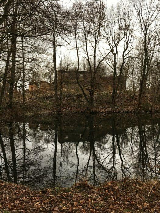 Ruine des Wasserschloss / Wasserburg Mechelgrün im Vogtland / Sachsen