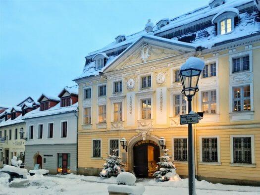 Ausflug im Winter in Sachsen - winterlicher Spaziergang durch Plauen - Vogtlandmuseum