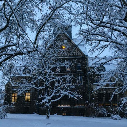 Winterausflug in Sachsen - winterlicher Spaziergang durch Plauen - Lutherhaus