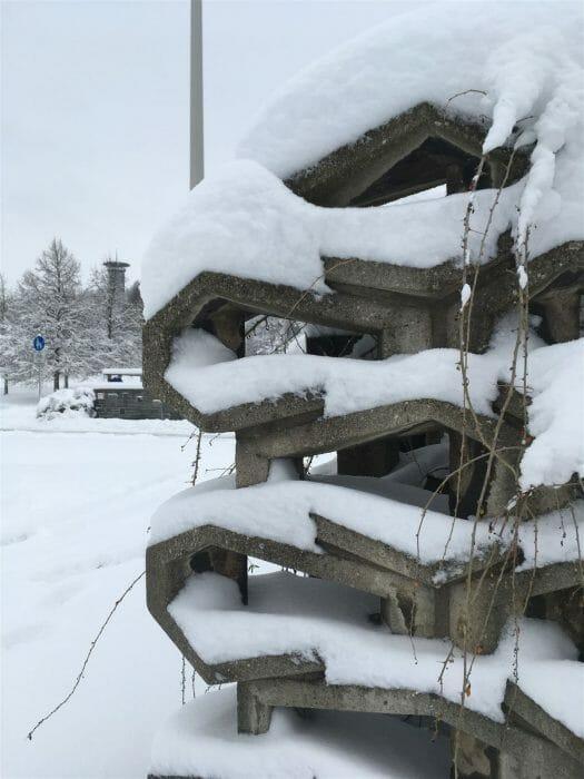 - Winterausflug in Sachsen - winterlicher Spaziergang durch Plauen - oberer Bahnhof