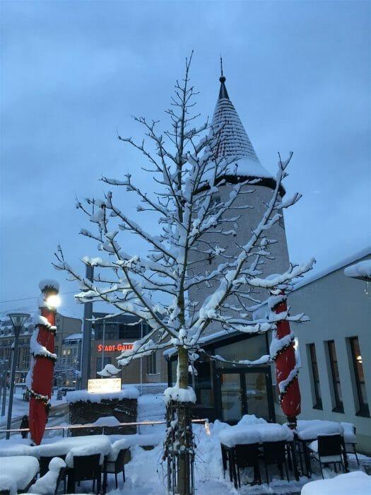 Winterausflug in Sachsen - winterlicher Spaziergang durch Plauen - Nonnenturm