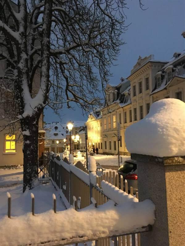 - Winterausflug in Sachsen - winterlicher Spaziergang durch Plauen - Nobelstraße