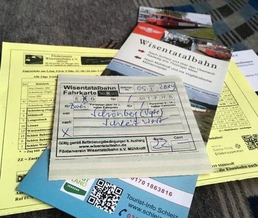 nostalgische Bahnfahrt mit der Wisentatalbahn von Sachsen nach Thüringen und wieder zurück