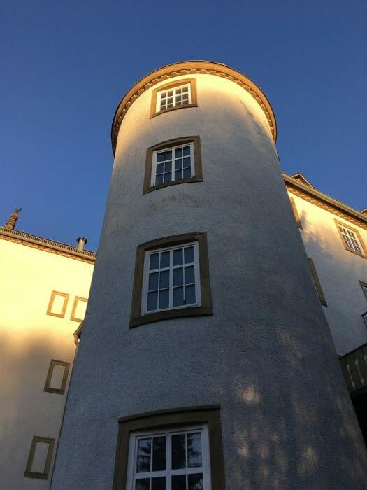 Ausflug - Sachsen - Blick zum Rittergut Heinersgrün im Vogtland