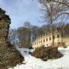 Die romantische Burgruine der Burg Neuberg in Podhradí
