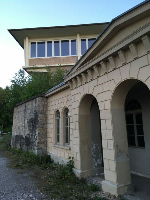 Ausflug - Spaziergang durch Gera Untermhaus - Blick Schloss Osterstein Gaststätte