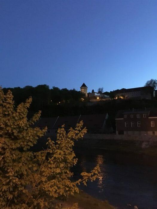 Gera Vogtland - Blick zum Turm des Schlosses Osterstein