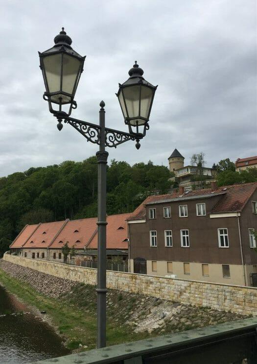 Ausflug - Spaziergang durch Gera Untermhaus - Blick zum Schloss Osterstein