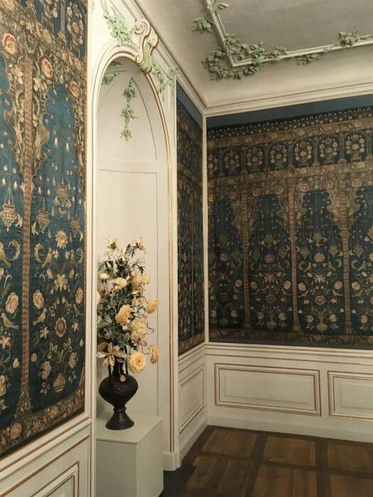 Ausflug zum Schloss Wildenfels in Sachsen - der blaue Salon