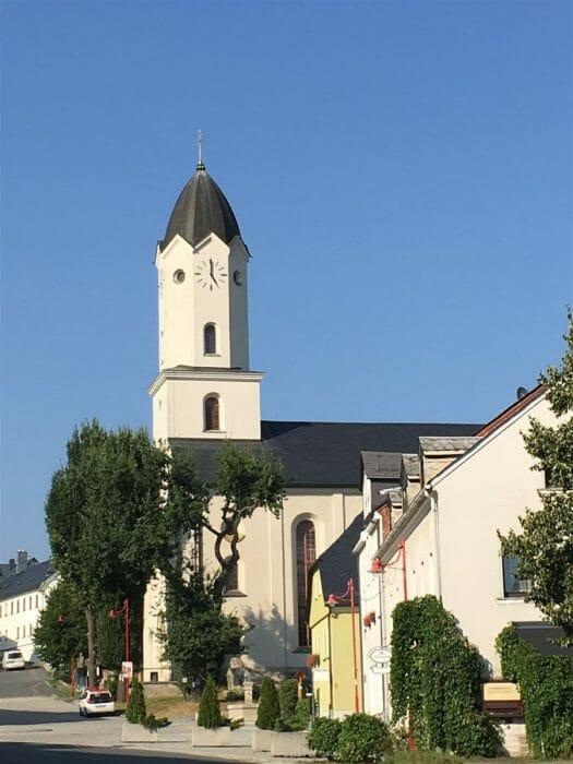 Spaziergang durch den Bad Brambach  in Sachsen