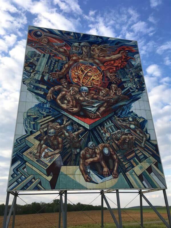Die friedliche Nutzung der Kernenergie von Werner Petzold - Kunst am Bau DDR