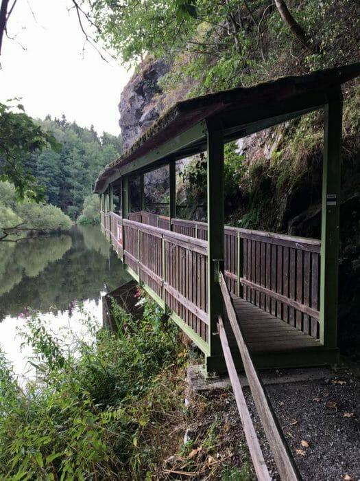 Hängesteg in Hirschberg - Wandern in Thüringen