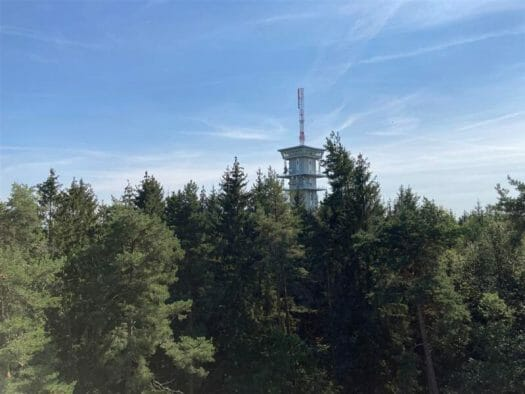Turm auf dem Grünberg - Zelena Hora bei Eger/ Cheb