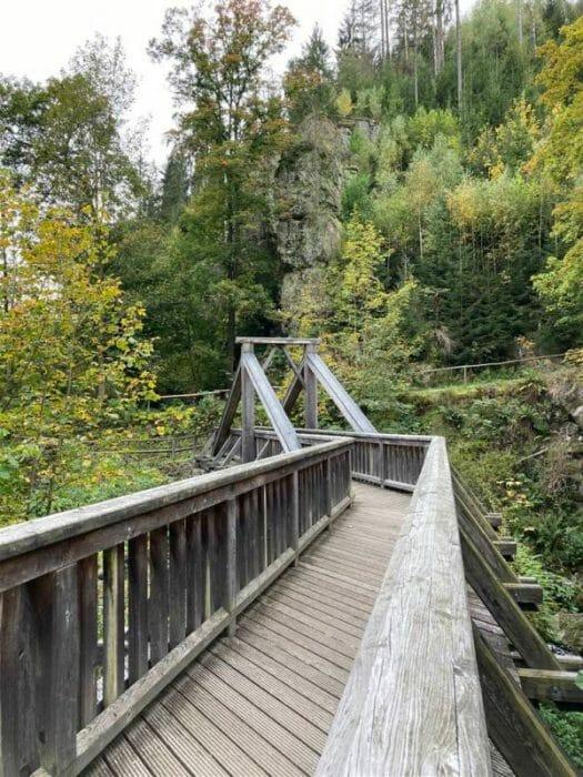 Wandern in Bayern - Teufelssteg im Höllental