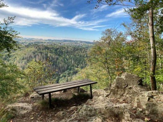 Ausblick übers Höllental in Oberfranken - Wandern