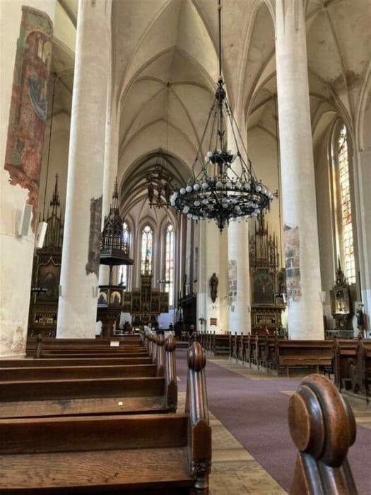 Eindrucksvolle Kirchen: im Bild die St. Nikolaus Basilika in Eger (Cheb)