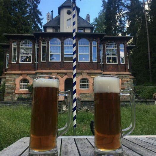 Biergarten Waldquelle Ausflug in Bad Elster